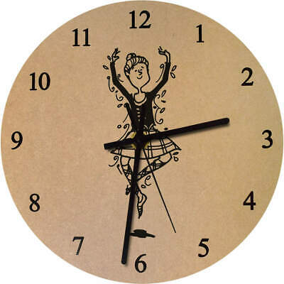 275mm 'Highland Dancer' Large Wooden Clock (CK00011797)