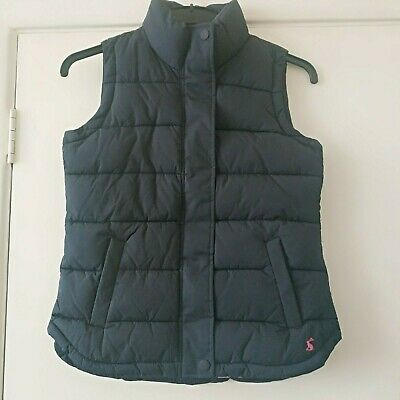 Joules Women's  Eastleigh Padded Gilet In Marine Navy Blue Size 8 New With Tags