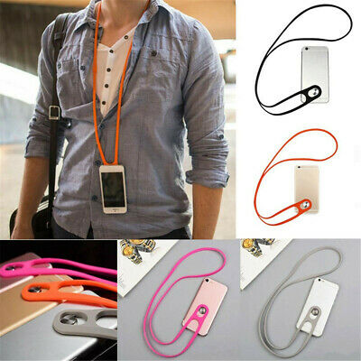 Universal Cell Phone Strap Neck Hanging Lanyard Stretchy Silicone Phonestrap US