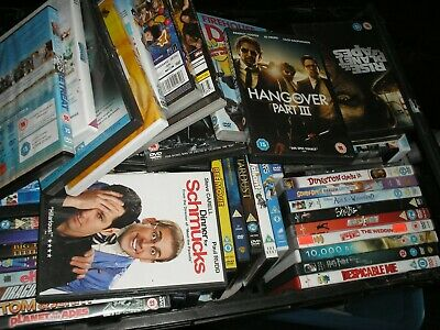 Job Lot of 100 x DVDs Action Drama Comedy Kids Films TV Car Boot Resale Collect