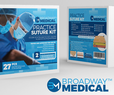 Suture Practice Kit 27-Piece Complete Suturing Training Set For Students