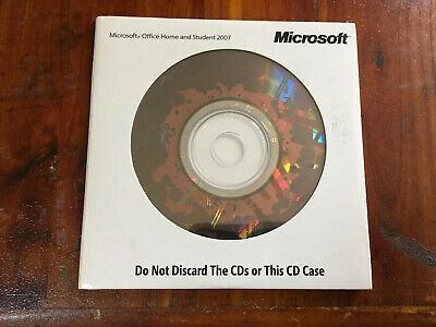 New Microsoft Office Home and Student 2007 with Key