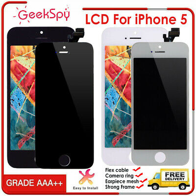 For iPhone 5 LCD Digitizer Display Touch Screen Lens Assembly Replacement Black