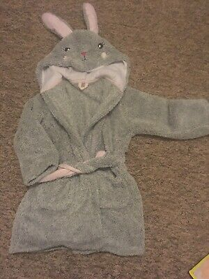 M&S Marks And Spencer Girls Bunny Rabbit Dressing Gown Age 3-4 Years