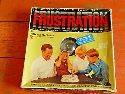 Vintage Retro 1965 Frustration Board Game Peter Pan Toys Pop O Matic Games
