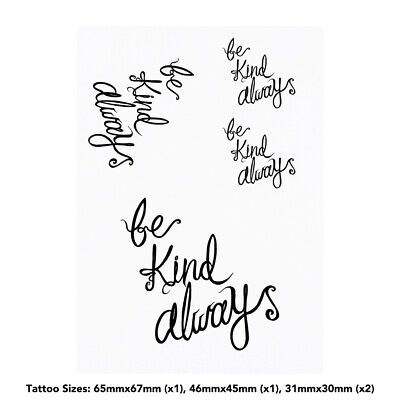 'Be Kind Always Text' Temporary Tattoos (TO017262)