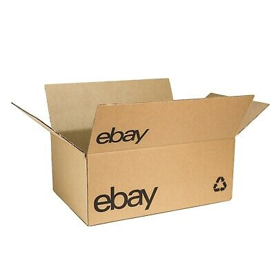 "NEW ITEM eBay-Branded Boxes With Black Color Logo 15"" x 10"" x 6"""
