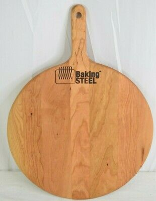"The Baker's Board Cherry Wood Round 16"" Pizza Peel"