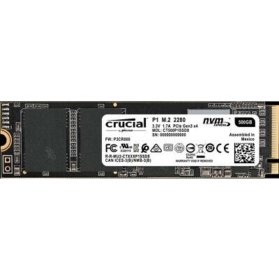 Micron Consumer Products Group Ct500P1Ssd8  Crucial P1 Nvme Pcie Interface Ql...