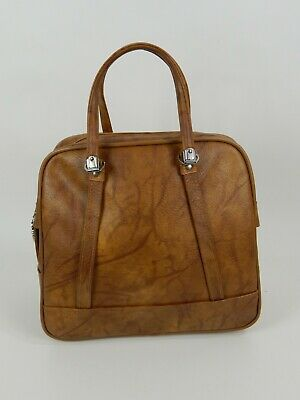 Vintage American Tourister Escort Carry On Tote Overnight Bag Luggage Brown/Tan