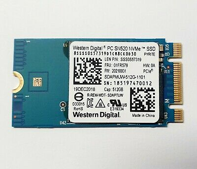 Western Digital 512GB M.2 2242 NVMe Internal SSD Drive