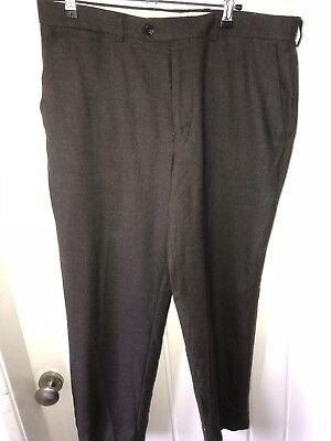 "Marks & spencer  34"" mens wool trousers brown mix Short leg"