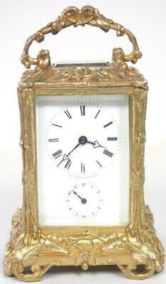 VER RARE! Antique French 8Day Alarm Carriage Clock Charles Frodsham Paris C1827