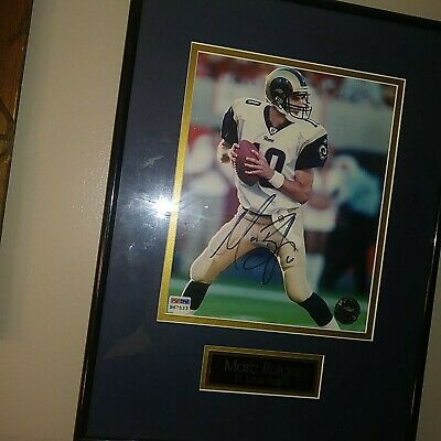 Marc Bulger St. Louis Rams Picture Signed