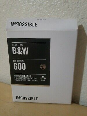 Impossible Project 600 Black & White Film for I-1 Camera & Instant Lab Polaroid