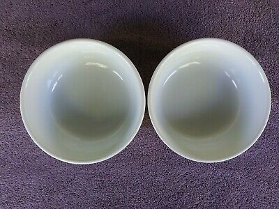 """Williams Sonoma Essential White Soup Cereal Bowls 6.5"""" Set of 2"""