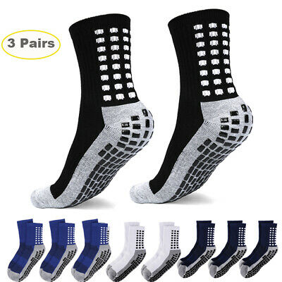 3 Pairs Anti Slip Non Skid Slipper Hospital Socks with grips For Adult Men Women