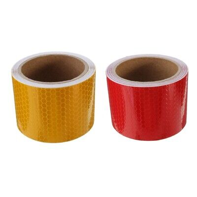 2 pcs 50mm × 3 meter Adhesive Tape Tape Security Marking Tape White and Red K3M9