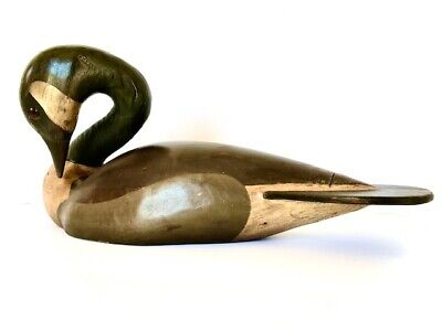Hand Carved Wooden Canadian Goose