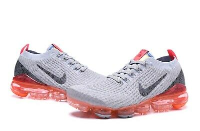 Nike Air VaporMax Flyknit 3.0 2019 Mens Running Shoes Grey/Orang Only 10 10.5 11