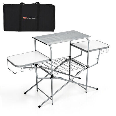 Camping Catering Heavy Duty Folding Extended Table Aluminum Picnic BBQ Portable