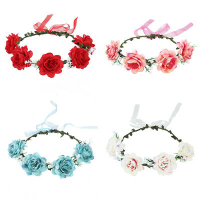 Boho Flower Crown Floral Hairband Headband Party Wedding Women's Garland