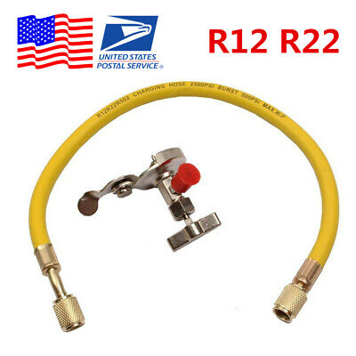 SUV Car R12 R22 Can Tap Tapper Air Conditioning Refrigerant Recharge Hose Kit US