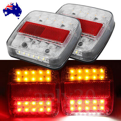 2X 12V LED Trailer Lights Tail Lamp Truck Boat Caravan Rear Brake Stop Indicator