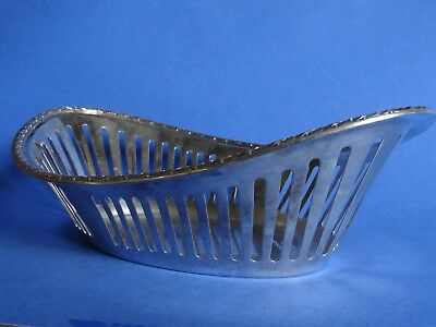 Ancienne Corbeille  Metal Argente Manufacture Saglier Frere Style Empire