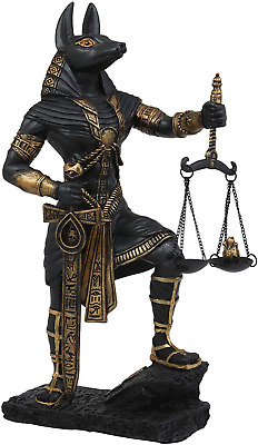Ebros Ancient Egyptian God Anubis with Scales of Justice Statue Gods of The Dead