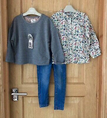 NEXT *3y GIRLS Fabulous BLOUSE TOP & JEANS bundle OUTFIT AGE 3 YEARS (3-4y