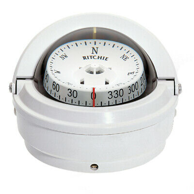 Ritchie Compass S-87W Ritchie Voyager Surface Mount Compass White
