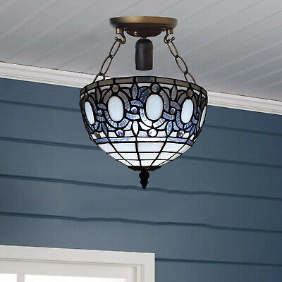 Antique design Handcrafted Tiffany Ceiling Lamp Home Decor Stained Glass Shade