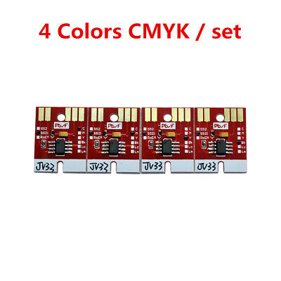 Chip Permanent for Mimaki JV33 SS21 Cartridge 4 Colors CMYK, Free shipping