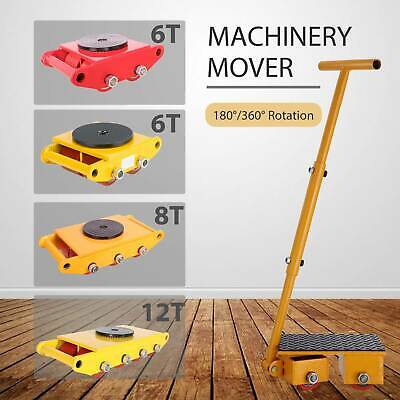 6Ton/8T/12T Industrial Machinery Mover Dolly Skate Roller W/ 180°/360° Rotation