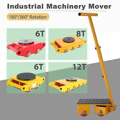 Industrial Machinery Mover Dolly Skate Cast Steel Roller 180°/360° 6Ton/8Ton/12T