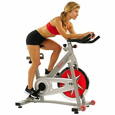 Sunny Health & Fitness Pro Indoor Cycling Bike with 40 LB Chromed Chain