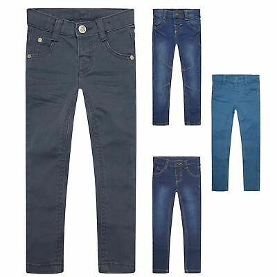 Boys Kids Toddler Adjustable Waist Denim Jeans Slim Stretch Chino Trousers 0-14