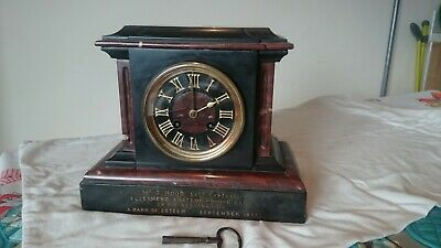 Antique French Marble clock c. 1877- working (see video)