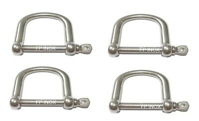 Manille Droite inox 316 EXTRA LARGE 5mm inox A4 ( Lot de 4 )