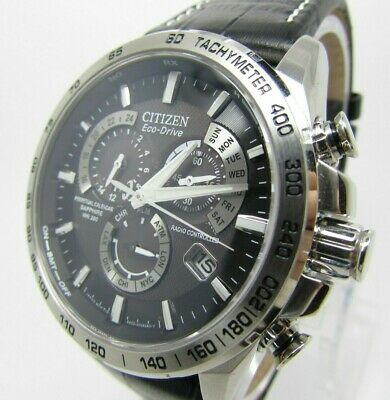 Mens Citizen Eco Drive Radio Controlled Perpetual Chronograph Watch - AT4000-02E