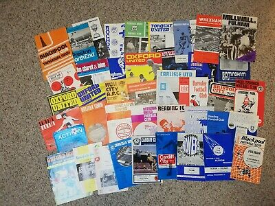 43 Fulham away programmes mainly early 1970s