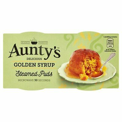 Aunty's Golden Syrup Puddings 2 x 110g