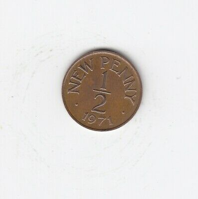 1971 Guernsey HALF PENNY 1/2p Extremely Nice Circulated Coin   (4167)