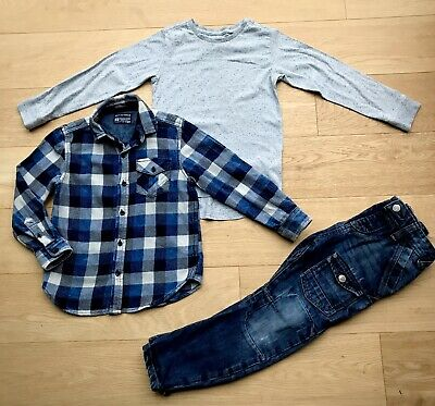 NEXT *5y BOYS FULL OUTFIT JEANS & TOPS X2 OUTFIT AGE 5 YEARS
