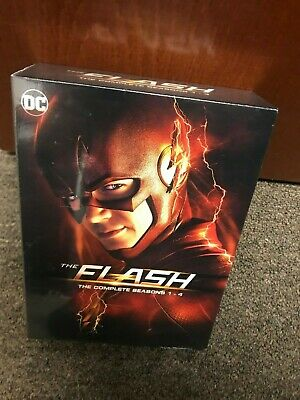 The Flash: Complete Seasons 1-4 - 2014 Series (DVD Box Set, 2019) New, Sealed