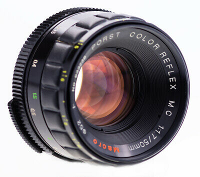 RARE Porst Color Reflex 50 mm f 1,7 Macro MC F M42 SN:635567 Kern Alpa Switar