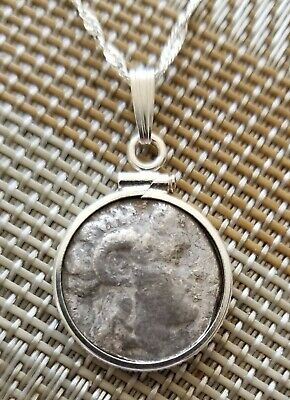 Authentic Ancient Drachm Coin of Alexander The Great Real Portrait Necklace