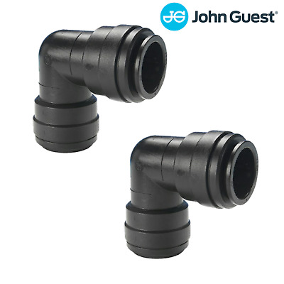 John Guest - Equal Elbow -  2 x Push in connector for 15mm Nylon Pipe