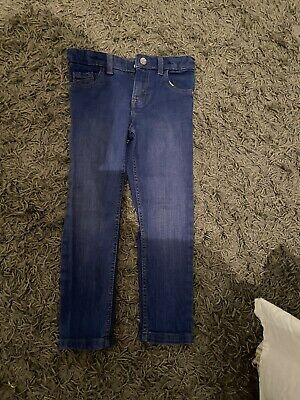 Girls M&S  Blue Jeans - Indigo Collection - Age 4-5